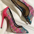 Christian Louboutin Pigalle Follies Stiletto Glitter Classic Black Pumps Image 4