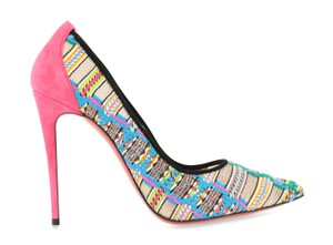 Christian Louboutin Suede Leather Stiletto Multi Pumps