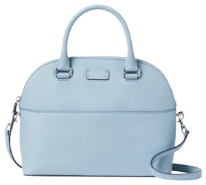 Kate Spade Crossbody Leather Satchel in Blue Dawn