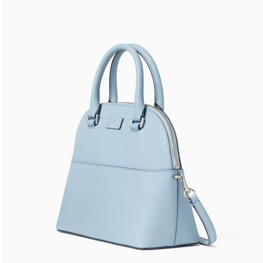 Kate Spade Crossbody Leather Satchel in Blue Dawn Image 1