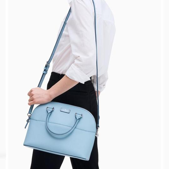 Kate Spade Crossbody Leather Satchel in Blue Dawn Image 3