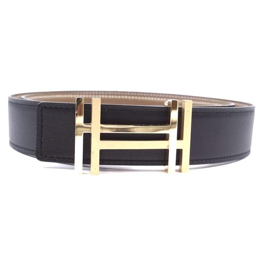 Preload https://img-static.tradesy.com/item/25567932/hermes-30807-black-on-earth-tone-grey-ultra-rare-32mm-satin-double-gold-h-reversible-leather-size-85-0-1-540-540.jpg