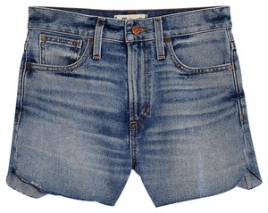 Madewell Cut Off Shorts Bayberry Wash