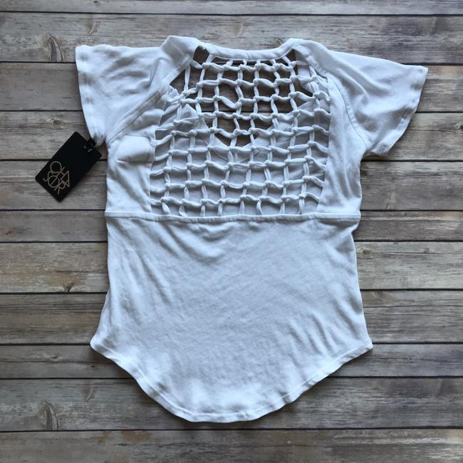 Chaser White Cut-out Trend T Shirt Image 1