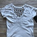 Chaser White Cut-out Trend T Shirt Image 2