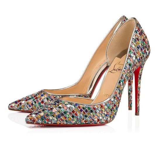Christian Louboutin Pigalle Follies Stiletto Glitter Classic Multicolor Pumps Image 0