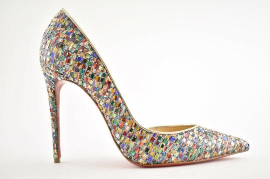 Christian Louboutin Pigalle Follies Stiletto Glitter Classic Multicolor Pumps Image 1
