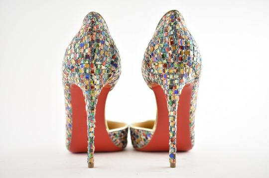 Christian Louboutin Pigalle Follies Stiletto Glitter Classic Multicolor Pumps Image 10