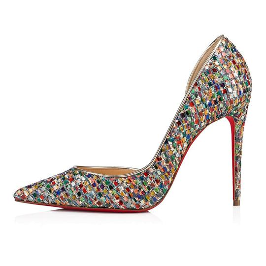 Christian Louboutin Pigalle Follies Stiletto Glitter Classic Multicolor Pumps Image 2