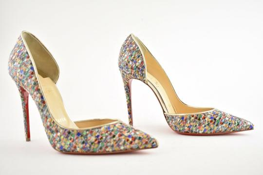 Christian Louboutin Pigalle Follies Stiletto Glitter Classic Multicolor Pumps Image 3