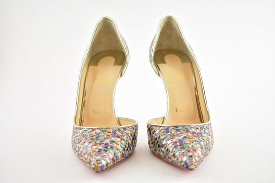 Christian Louboutin Pigalle Follies Stiletto Glitter Classic Multicolor Pumps Image 5