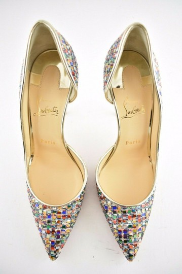 Christian Louboutin Pigalle Follies Stiletto Glitter Classic Multicolor Pumps Image 6