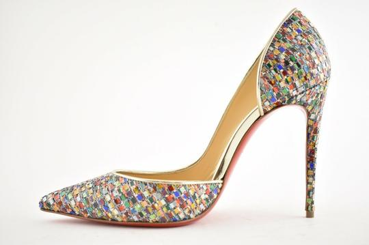 Christian Louboutin Pigalle Follies Stiletto Glitter Classic Multicolor Pumps Image 7