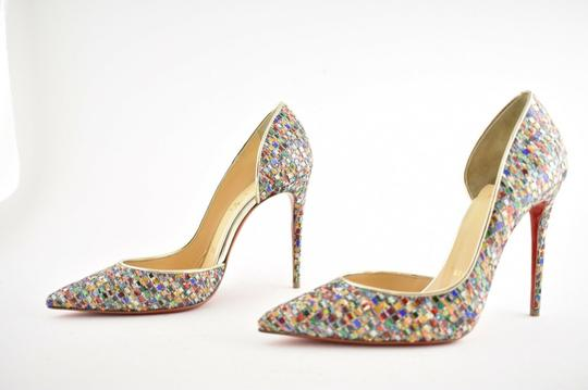 Christian Louboutin Pigalle Follies Stiletto Glitter Classic Multicolor Pumps Image 8