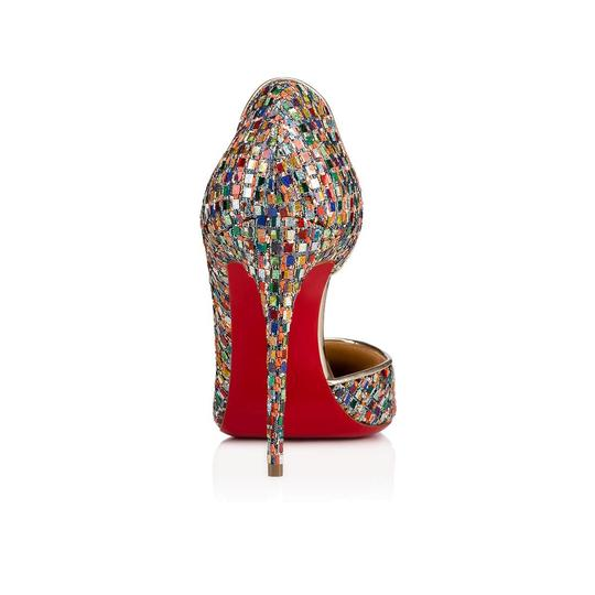 Christian Louboutin Pigalle Follies Stiletto Glitter Classic Multicolor Pumps Image 9