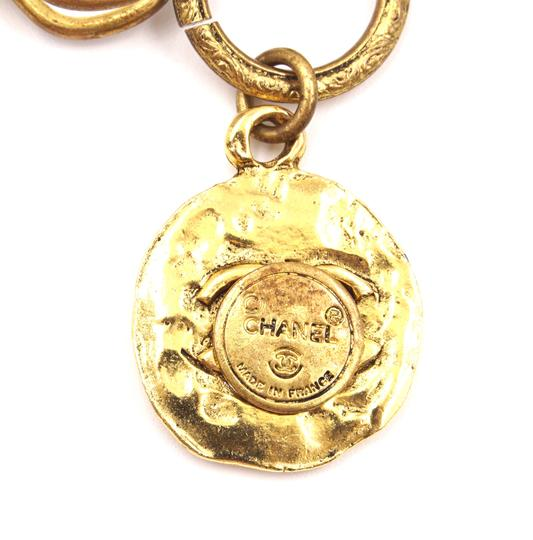 Chanel RARE CC Hammered Charms Gold Pin Brooch Image 2