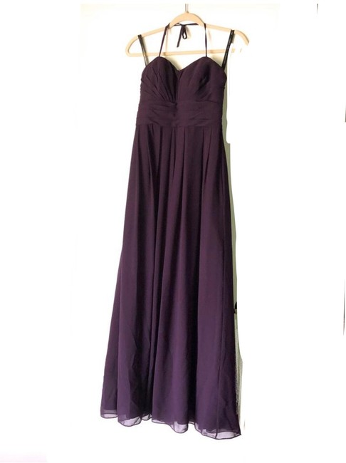 Item - Purple/Eggplant Chiffon W Gown W/Built In Bra Formal Bridesmaid/Mob Dress Size 6 (S)