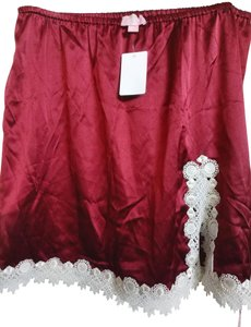 Giamba Mini Skirt Burgundy white