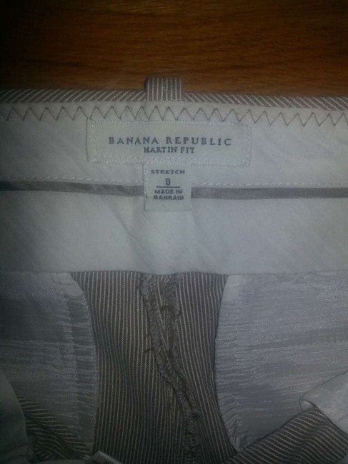 Banana Republic Sparkle Bermuda Shorts Grey and White Striped