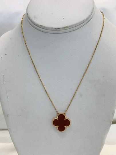 Van Cleef & Arpels Carnelian 20mm Magic Alhambra Pendant Necklace Image 1