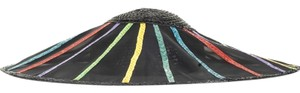 Saint Laurent YVES SAINT LAURENT Black and Rainbow Hat