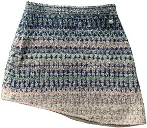 Chanel Skirt Pink,Blue,Silver