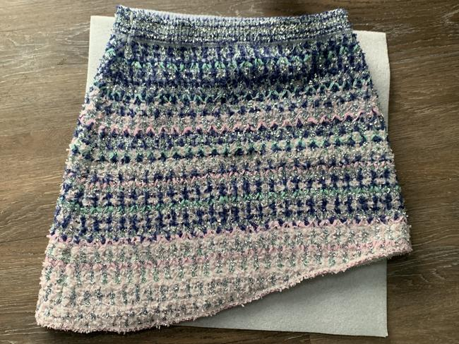 Chanel Mini Skirt Pink,Blue,Silver Image 1