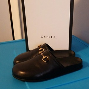Gucci Black with gold hardware Mules