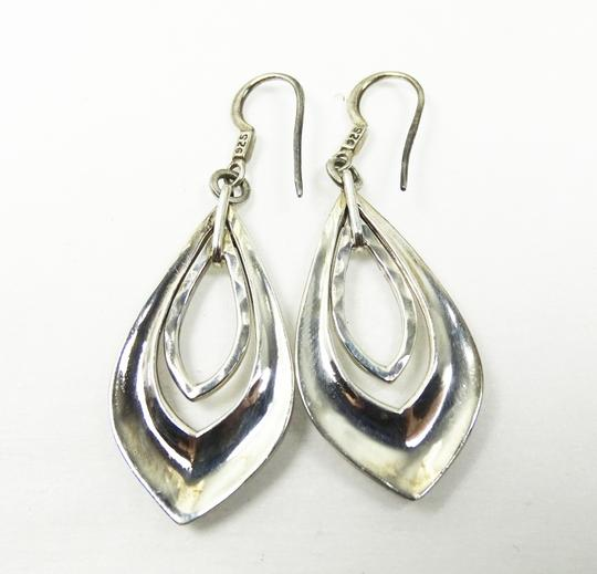 Lois Hill Lois Hill Silver Sterling Hammered Granulated Design Dangle Earrings Image 2
