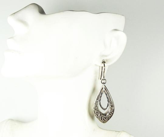 Lois Hill Lois Hill Silver Sterling Hammered Granulated Design Dangle Earrings Image 7