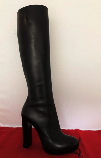 Christian Louboutin Thigh High Ankle Over The Knee Heel Black Boots Image 3