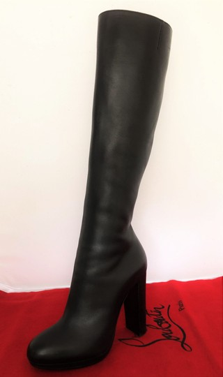 Christian Louboutin Thigh High Ankle Over The Knee Heel Black Boots Image 5
