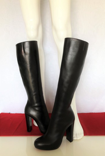 Christian Louboutin Thigh High Ankle Over The Knee Heel Black Boots Image 6