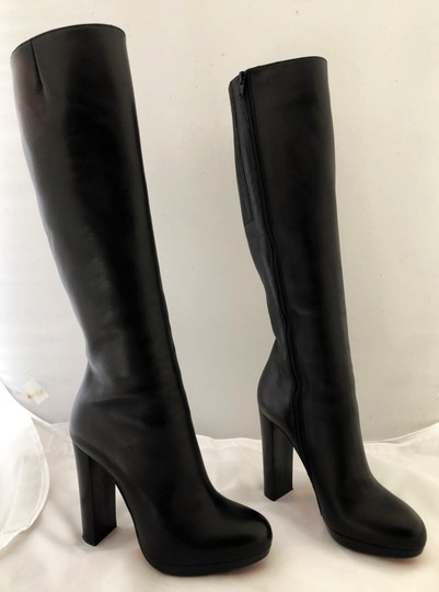 Christian Louboutin Thigh High Ankle Over The Knee Heel Black Boots Image 7