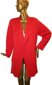 Eileen Fisher Silk Open Knit Red Jacket