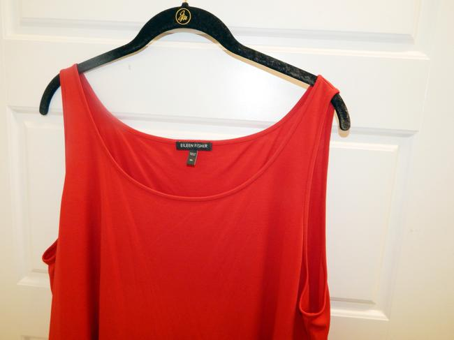 Eileen Fisher Silk Shell Sleeveless Top Red Image 3