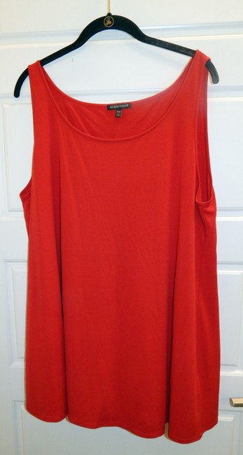 Eileen Fisher Silk Shell Sleeveless Top Red Image 5