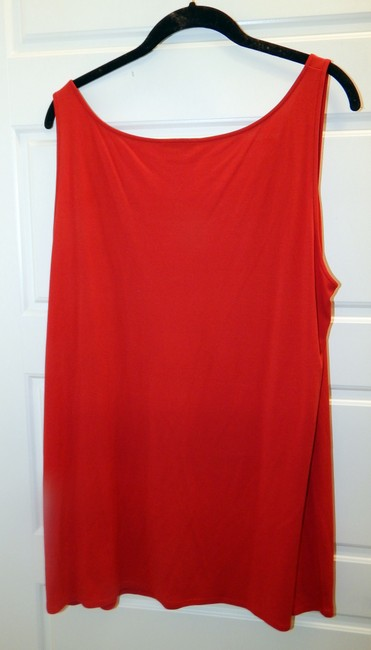 Eileen Fisher Silk Shell Sleeveless Top Red Image 6
