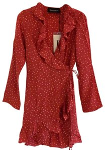 Réalisation Par short dress Red with white stars on Tradesy