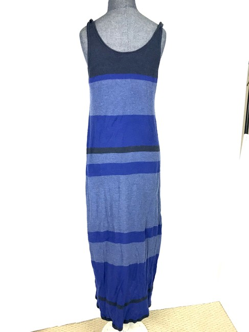 Blue Maxi Dress by Vince Cotton Stripe Sleeveless Image 1