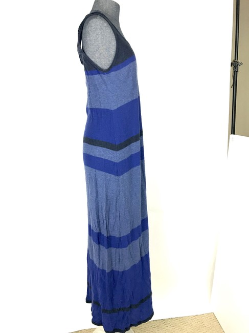 Blue Maxi Dress by Vince Cotton Stripe Sleeveless Image 2