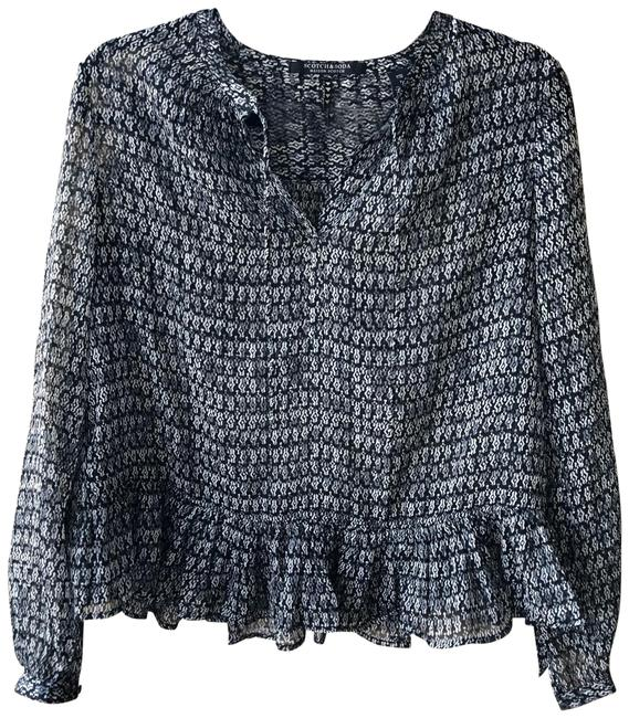 Preload https://img-static.tradesy.com/item/25569702/scotch-and-soda-black-and-grey-sheer-peplum-tie-front-blouse-size-4-s-0-1-650-650.jpg