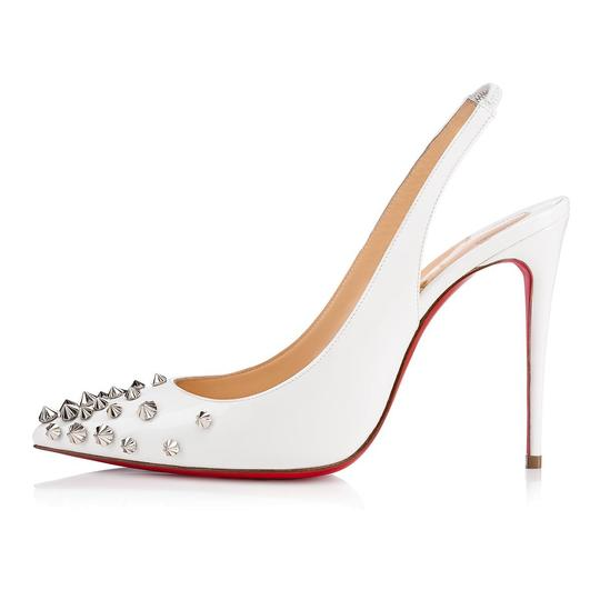 Christian Louboutin Pigalle Stiletto Classic Ankle Strap Drama white Pumps Image 2
