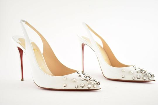 Christian Louboutin Pigalle Stiletto Classic Ankle Strap Drama white Pumps Image 3