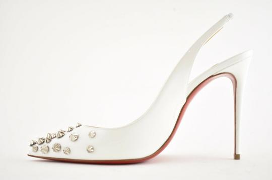 Christian Louboutin Pigalle Stiletto Classic Ankle Strap Drama white Pumps Image 7