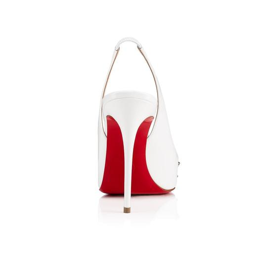 Christian Louboutin Pigalle Stiletto Classic Ankle Strap Drama white Pumps Image 9