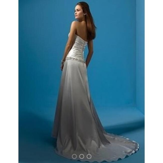 Item - Gold Silk Charmeuse Private Collection Trained Gown New Modern Wedding Dress Size 12 (L)