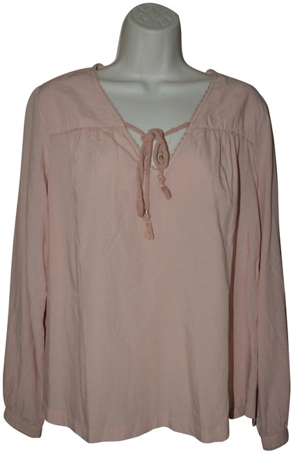 Preload https://img-static.tradesy.com/item/25569798/trovata-pink-birds-of-paradis-blush-peasant-blouse-size-4-s-0-1-650-650.jpg