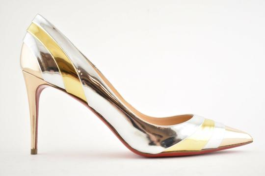 Christian Louboutin Pigalle Stiletto Classic Ankle Strap Drama silver Pumps Image 1