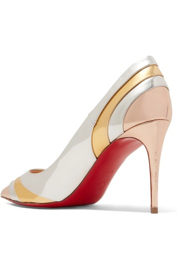 Christian Louboutin Pigalle Stiletto Classic Ankle Strap Drama silver Pumps Image 7